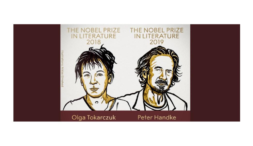 Foto: La Academia Sueca otorgó este jueves el Premio Nobel de Literatura 2018 y 2019 a la polaca Olga Tokarczuk y al austríaco Peter Handke, 10 octubre 2019