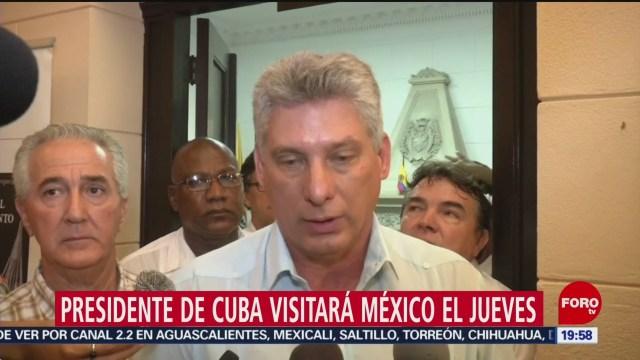 Foto: Nuevo Presidente Cuba Visitará México Jueves 14 Octubre 2019