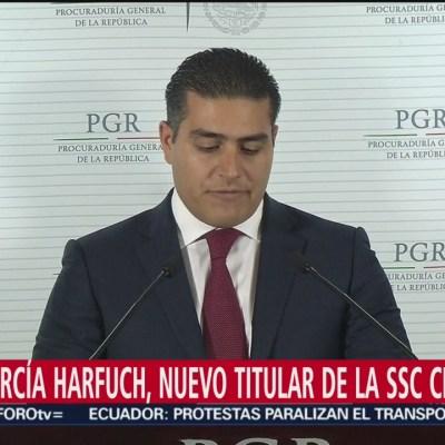 Omar Hamid García Harfuch, nuevo titular de la Secretaría de Seguridad Ciudadana