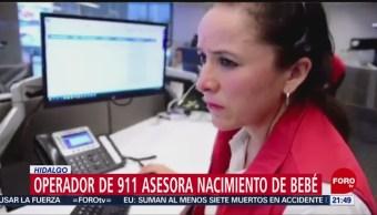 Foto: Operadora 911 Asesora Nacimiento Bebé Hidalgo 2 Octubre 2019