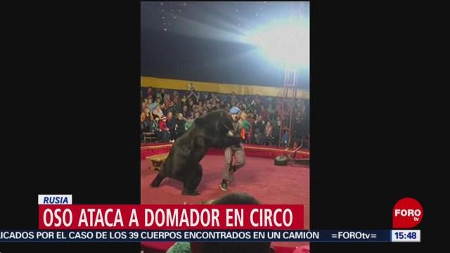 FOTO:Oso ataca a domador en circo, 25 octubre 2019
