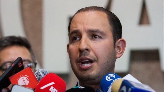 Foto: Marko Cortés, presidente nacional del Partido Acción Nacional (PAN), el 14 de octubre de 2019 (Foto: Galo Cañas /Cuartoscuro.com)