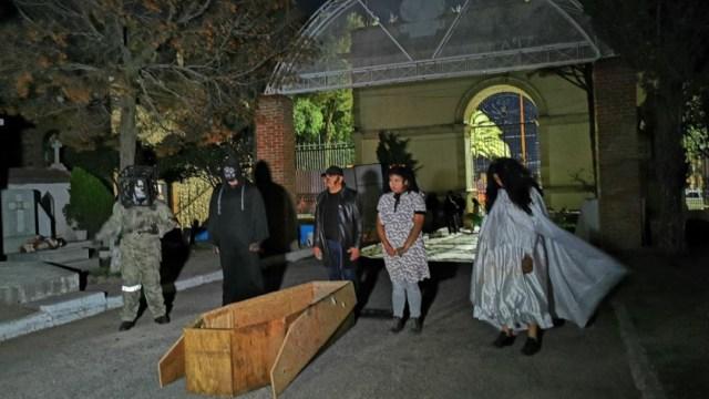 Foto: El Panteón Municipal de Pachuca, Hidalgo, abre sus puertas durante las Noches de Leyendas, 25 octubre 2019