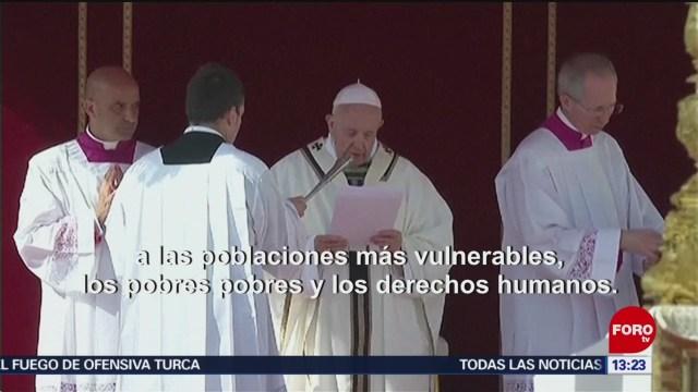 FOTO:Papa Francisco hace un llamado a la paz en Ecuador, 13 octubre 2019