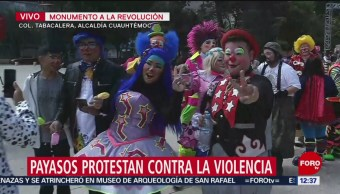 Payasos protestan contra la violencia en CDMX