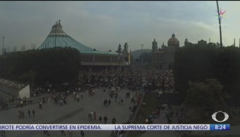 Peregrinos de Celaya llegan a la Basílica de Guadalupe
