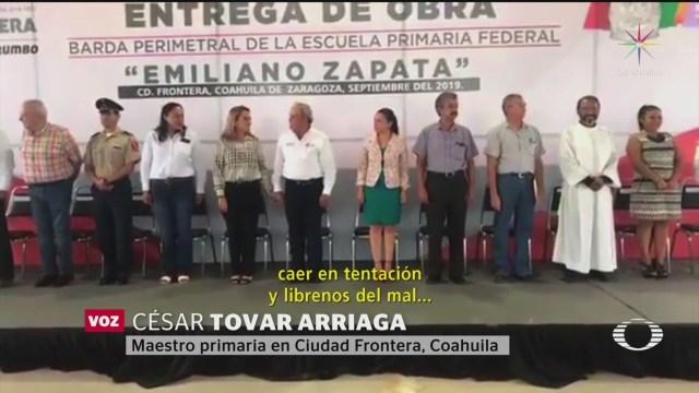 Foto: Perla Negra: Maestro Confunde Juramento Bandera Padre Nuestro 1 Octubre 2019