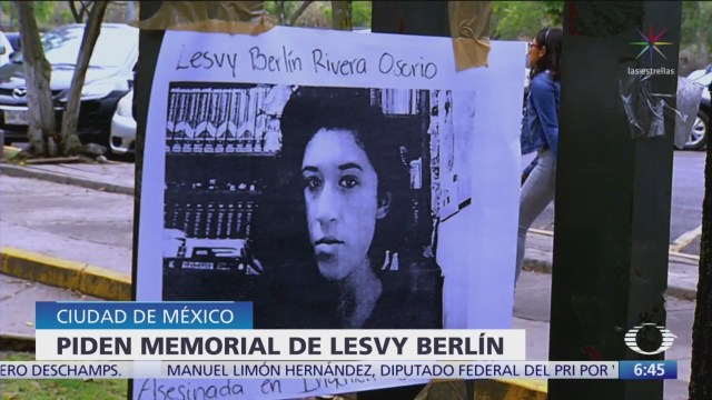 Piden memorial de Lesvy Berlín en CU y un documental