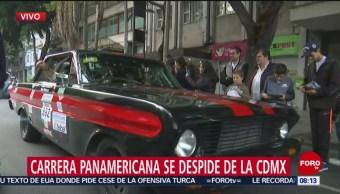 FOTO: Pilotos de Carrera Panamericana salen de CDMX rumbo a Querétaro, 13 octubre 2019