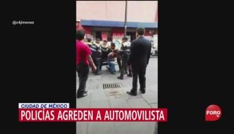 FOTO: VIDEO Policías CDMX Agreden Automovilista