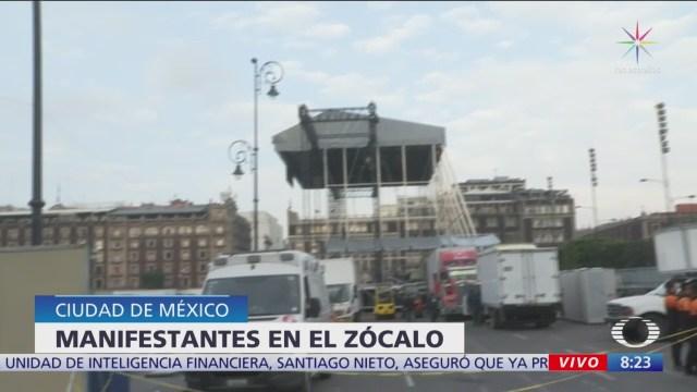 Preparan escenario para homenaje a José José en el Zócalo CDMX