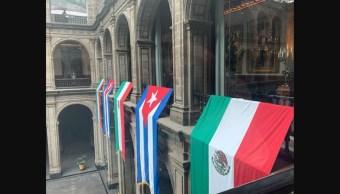 Foto: Miguel Díaz-Canel, presidente de Cuba, llega a México, 17 de octubre de 2019