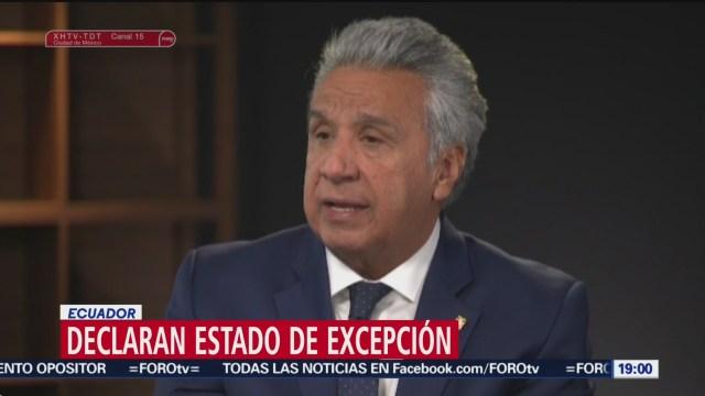 Foto: Presidente Ecuador Lenín Moreno Decreta Estado Excepción 3 Octubre 2019