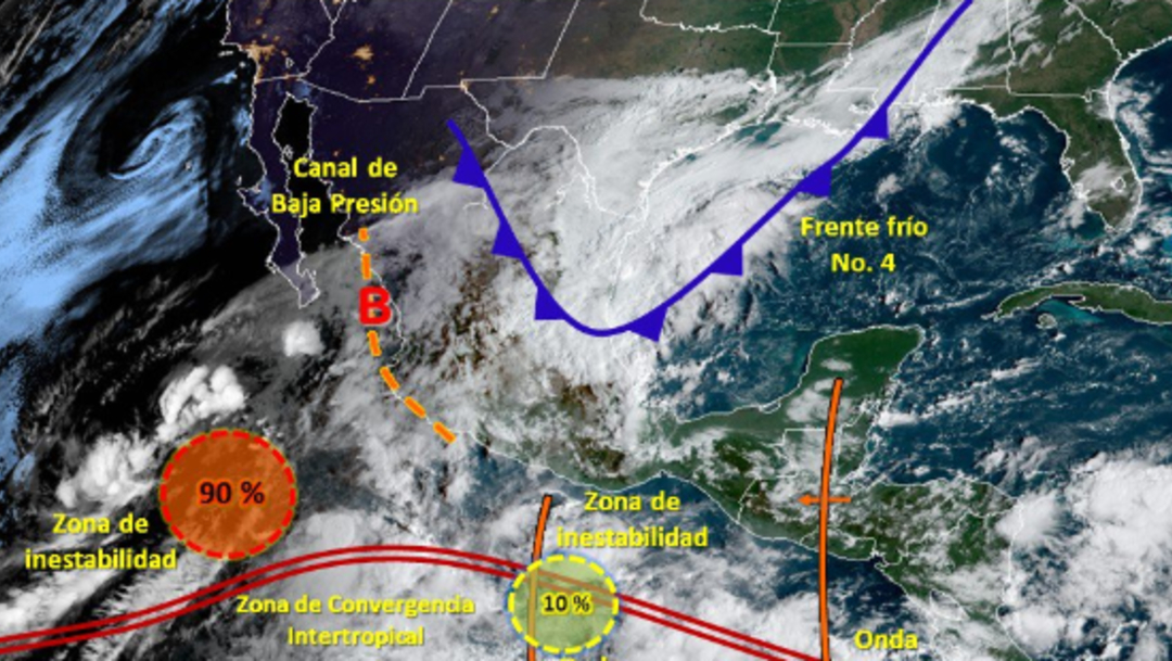 Foto: El mandatario estatal llamó a estar alertas de los anuncios de Protección Civil del estado, 12 de octubre de 2019 (Twitter @conagua_clima)