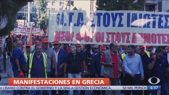 Protestan en Grecia contra reformas empresariales