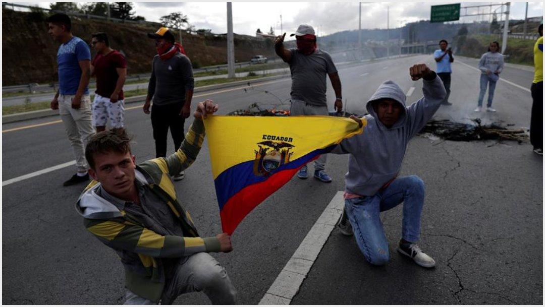 Foto: Autoridades de Ecuador declararon el toque de queda tras los sucesos violentos, 12 de octubre de 2019 (EFE)