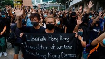 Foto: Activistas protestan en Hong Kong, 9 de abril de 2019