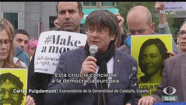 FOTO: Puigdemont Protestó Calles Bélgica,