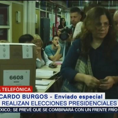 Realizan elecciones presidenciales en Argentina