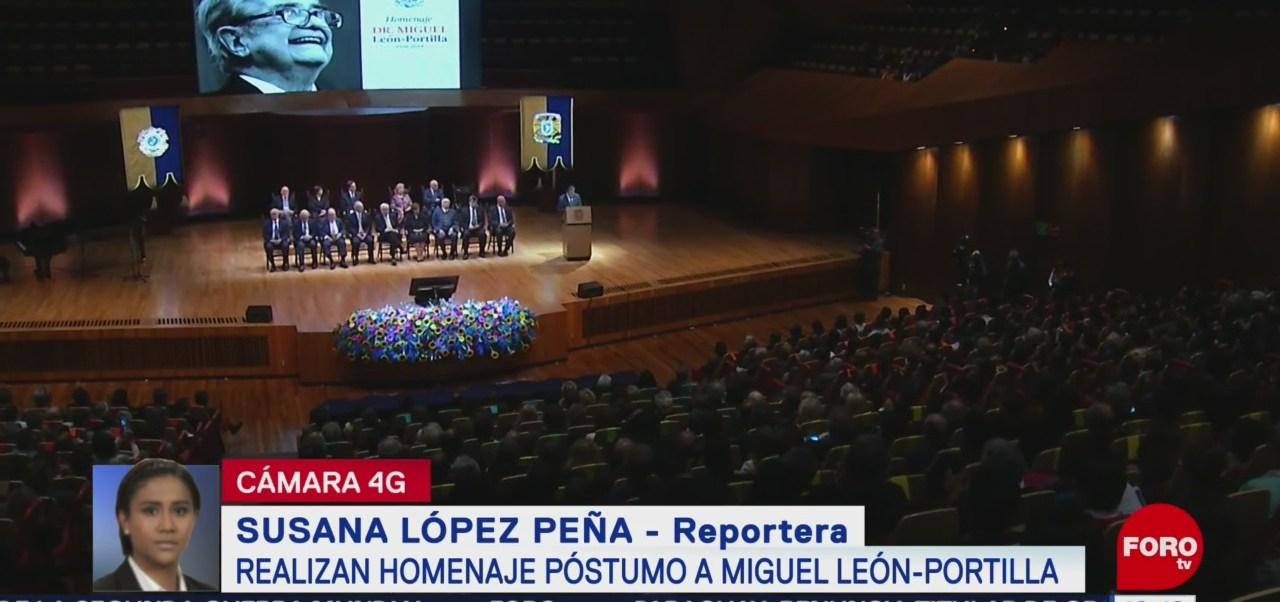 Realizan homenaje póstumo a Miguel León-Portilla en UNAM