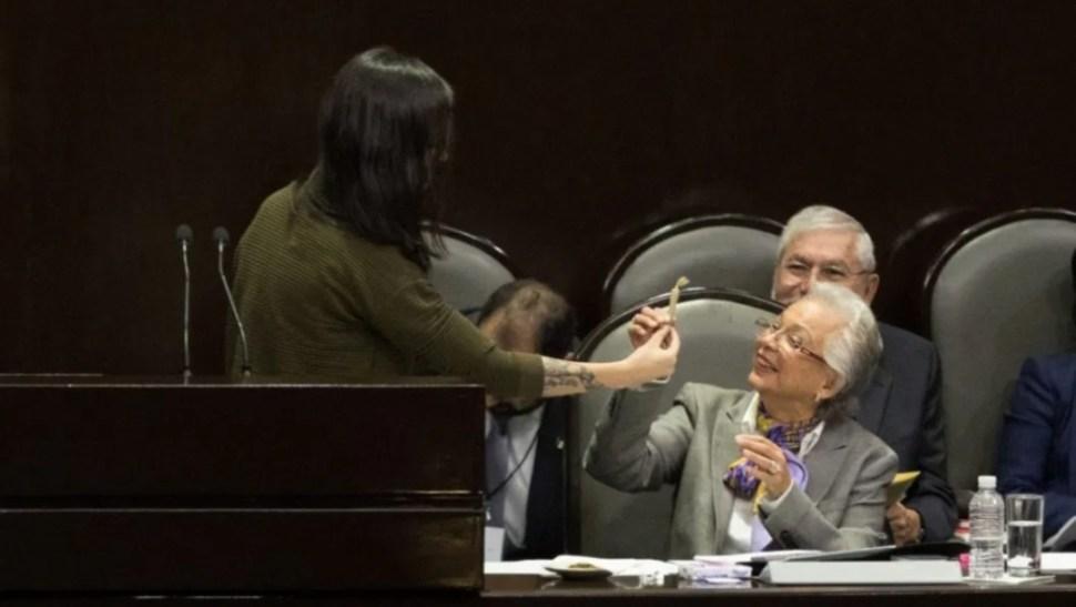 Foto: Olga Sánchez Cordero, a favor de aborto y marihuana