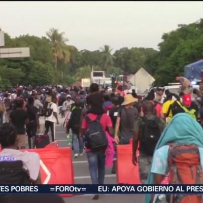 Regresa caravana de migrantes a Tapachula, Chiapas