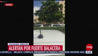 FOTO: Reportan balacera Culiacán