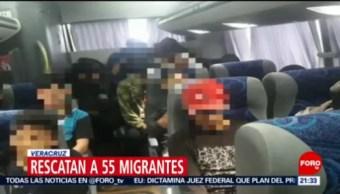 FOTO: Rescatan a 55 migrantes centroamericanos en Veracruz, 13 octubre 2019