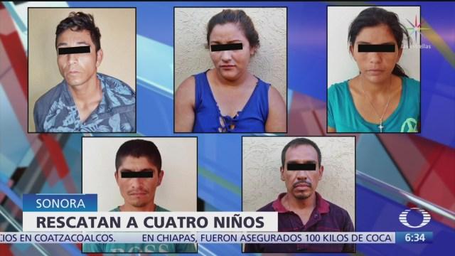 Rescatan a cuatro menores víctimas de explotación en Sonora