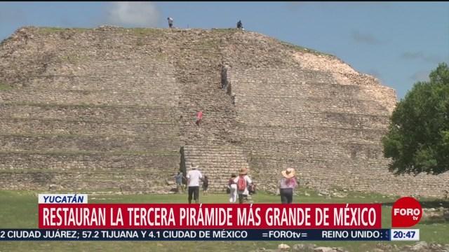 Foto: Restauran Tercera Pirámide Más Grande México 22 Octubre 2019