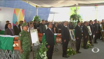 Foto: Homenaje Policías Muertos Emboscada Aguililla Michoacán 15 Octubre 2019