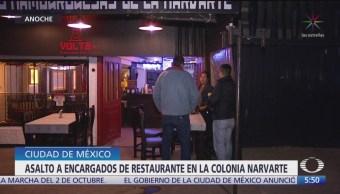 Roban restaurante en la colonia Narvarte en la CDMX