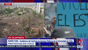 FOTO: Rober Funk habla sobre protestas Chile,