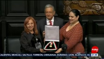 Foto: Rosario Ibarra Amlo Medalla Belisario Domínguez 23 Octubre 2019