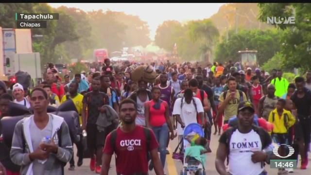 FOTO: Sale caravana migrantes Chiapas hacia frontera EEUU,