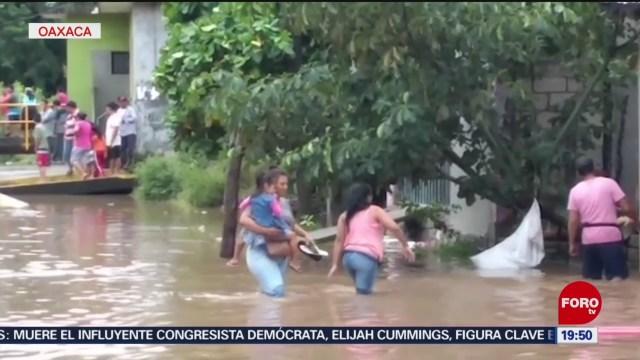 Foto: Desborda Río Los Perros Juchitán Oaxaca Inundaciones 17 Octubre 2019