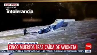 Foto: Avioneta Desploma Michoacán Hoy Cinco Muertos 23 Octubre 2019