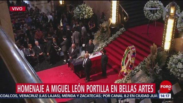 FOTO: Homenaje Miguel León-Portilla Se Realiza Bellas Artes