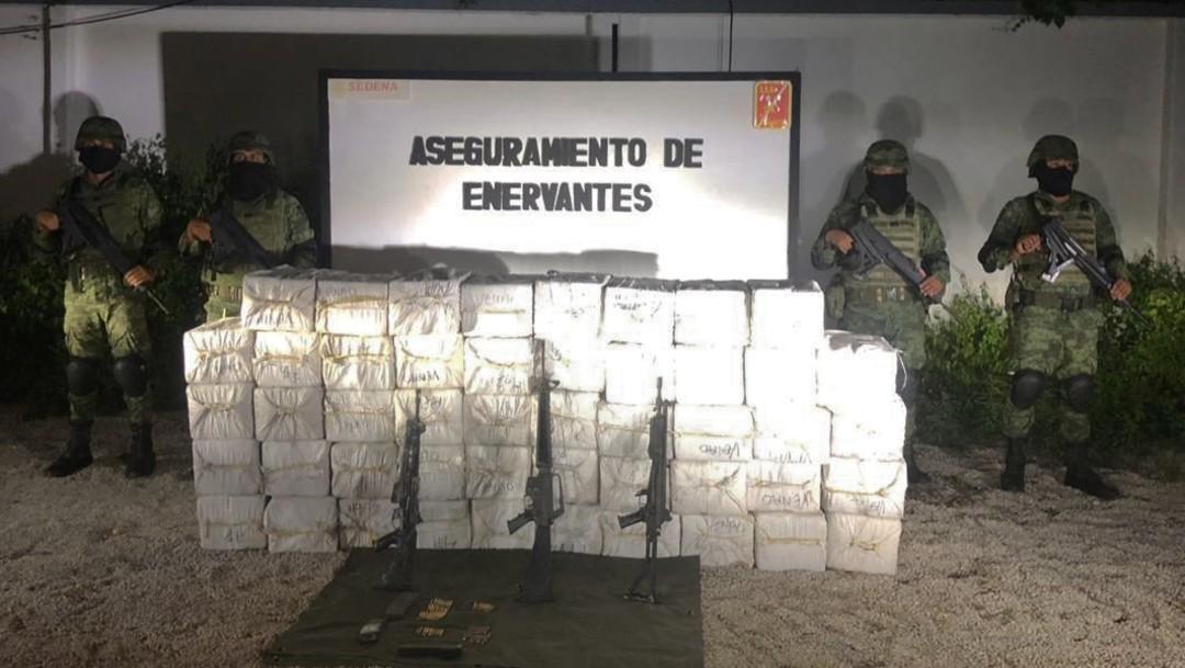 Decomisan una tonelada de cocaína, en Quintana Roo