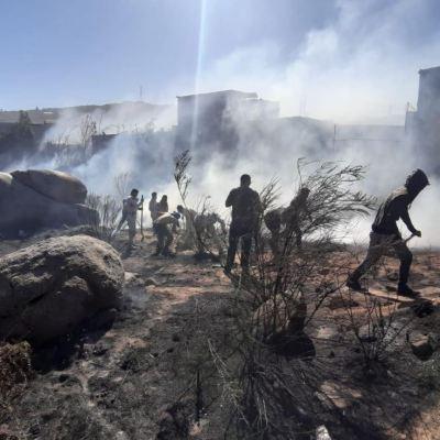 Ejército aplica Plan DN-III-E por incendio forestal en Tijuana