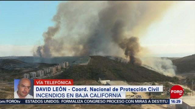 FOTO: Siguen trabajos para controlar incendios Baja California Protección Civil