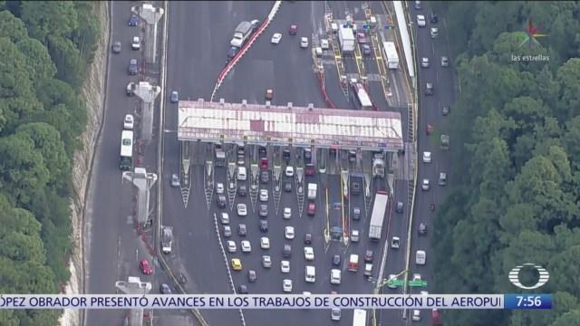 Sin manifestantes en casetas de autopistas a Cuernavaca y Toluca