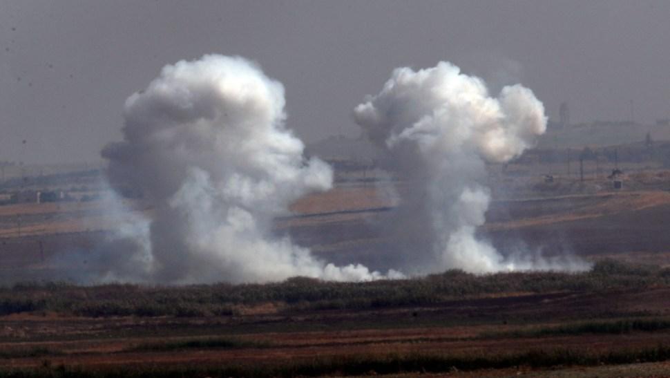 Foto: Bombardeos turcos en Siria,10 de octubre de 2019, Siria