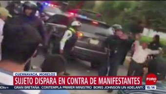 FOTO: Video Sujeto Dispara Contra Manifestantes Cuernavaca