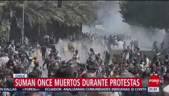 Foto: Muertos Protestas Chile 21 Octubre 2019