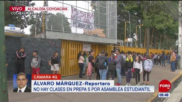 Suspenden clases en la Prepa 5 de la UNAM