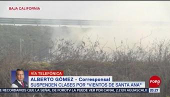 Foto: Suspenden Clases Por Vientos De Santa Ana Baja California 30 Octubre 2019