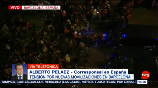 FOTO:Tensión por nuevas movilizaciones en Barcelona, 19 octubre 2019