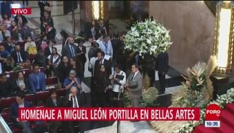 Todo listo para homenaje a Miguel León Portilla en Bellas Artes