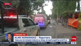 FOTO: Trasladan Rosario Robles Penal Santa Martha Acatitla